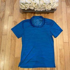 NWOT Nike Golf blue camo golf shirt